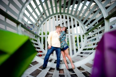 Kissing Photo | Bangkok Engagement Session - Thailand Wedding Photography