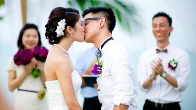 Kissing Photo   Yobe and Wegland's Wedding