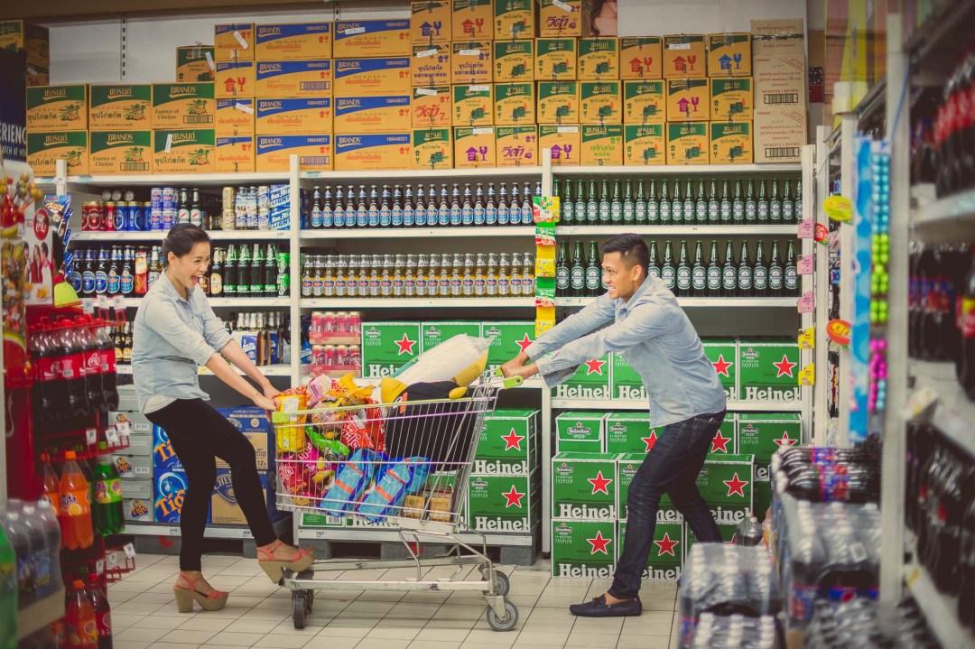 Big C Supermarket Bangkok Thailand Pre-Wedding Photography