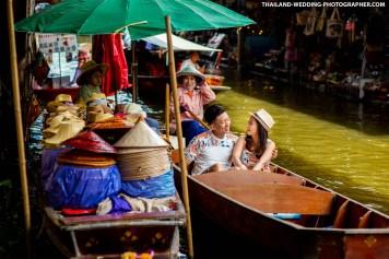 Damnoen Saduak Floating Market Thailand Prenuptial Photography