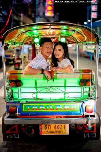 Yaowarat China Town Bangkok Thailand Prenuptial Photography
