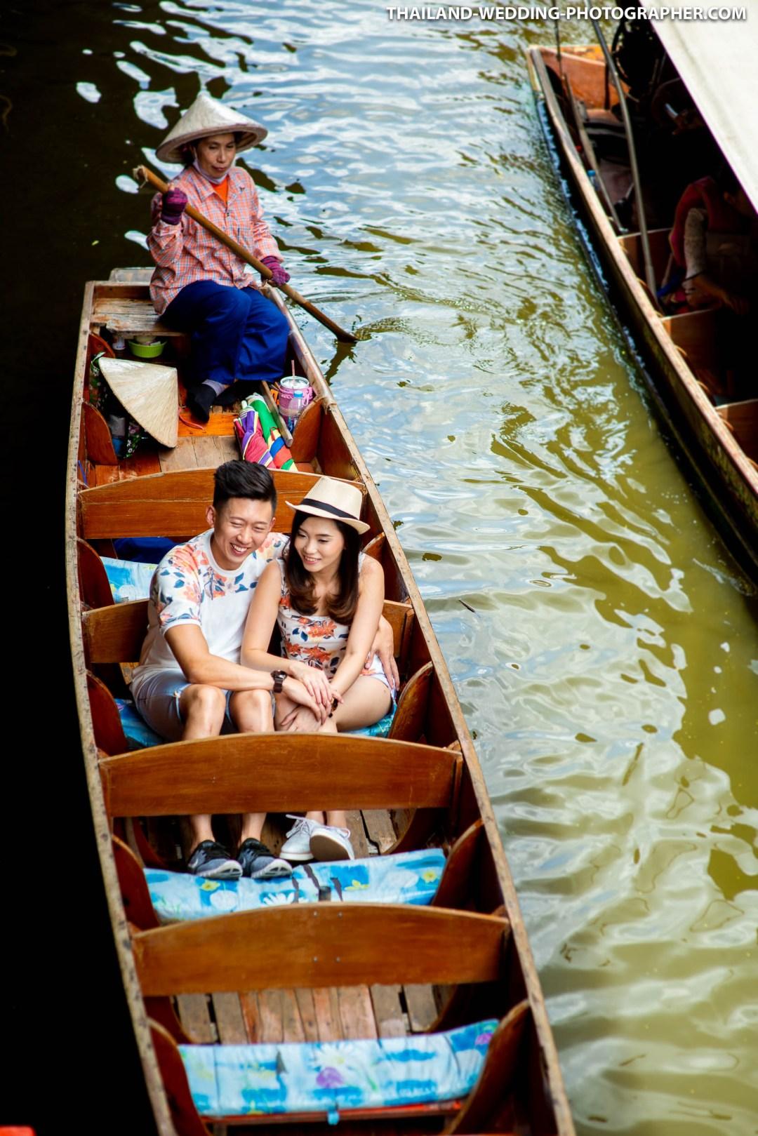 Damnoen Saduak Floating Market Thailand Pre-Wedding Photography