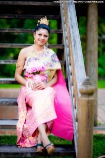 Destination wedding photo taken at Sampran Riverside in Nakhon Pathom, Thailand.