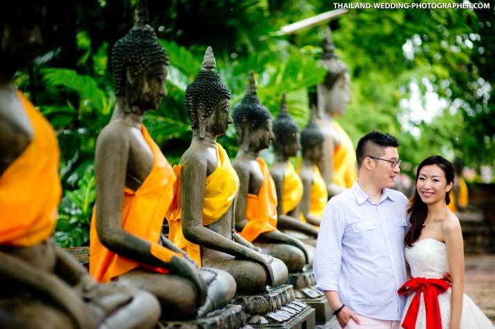 Thailand Ayutthaya Wat Yai Chai Mongkhon Wedding Photography | NET-Photography Thailand Wedding Photographer