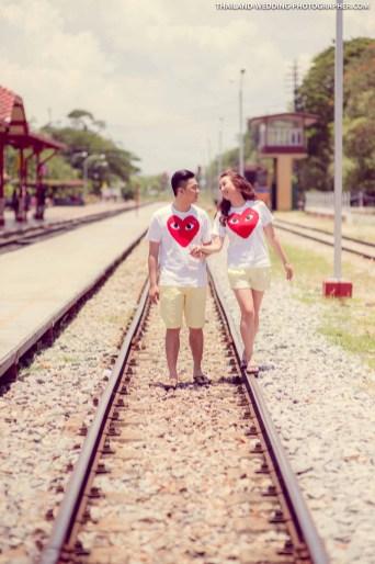 Hua Hin Railway Station Wedding Photography