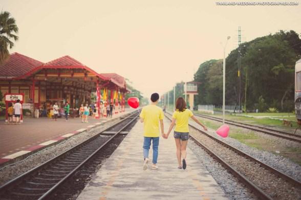 Hua Hin Railway Station Thailand Wedding Photography