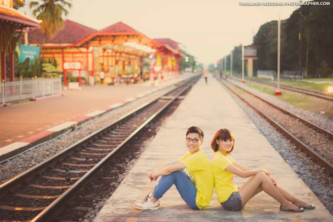 Hua Hin Railway Station Thailand Wedding Photography