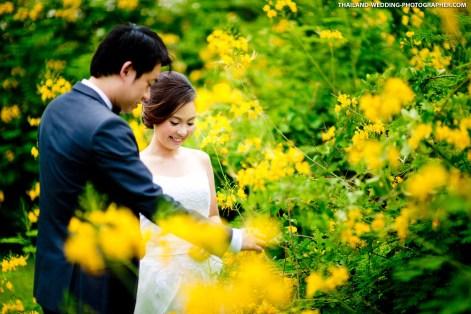 Wachirabenchatat Park Bangkok Thailand Wedding Photography