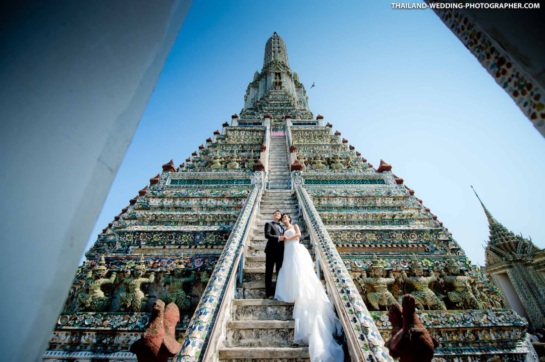Wat Arun Bangkok Thailand Wedding Photography