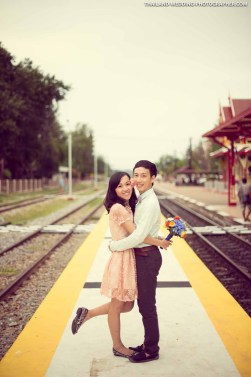 Hua Hin Railway Train Station Wedding Photography