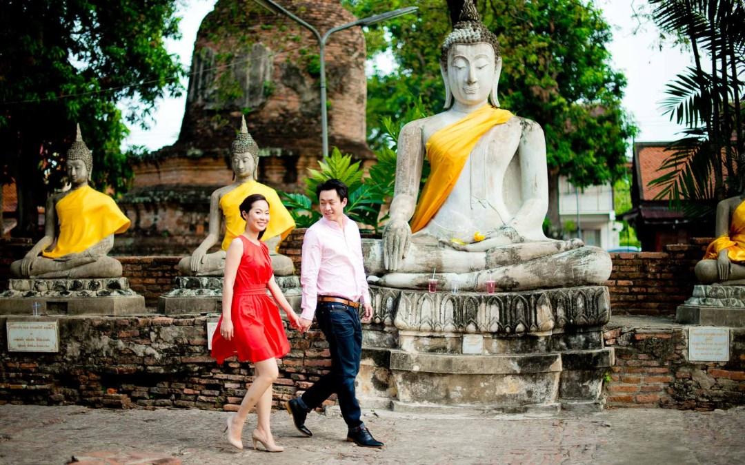 Ayutthaya & Bangkok Pre-Wedding of couple from Malaysia
