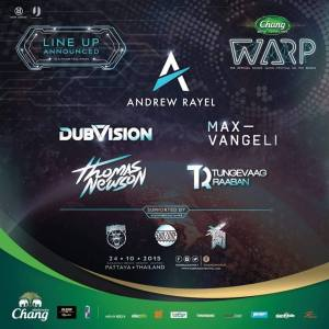 Warp Music Festival Pattaya 2015, Rave, Thailand, Thai, EDM, Nightlife