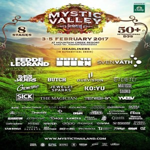 Mystic Valley Festival Thailand 2017 - DJ Lineup, Party, Music Festival, EPIC, EDM, Trance, House