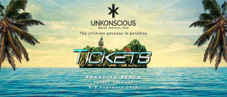 Unkonscious Phuket 2019- Banner Tickets, Trance DJ
