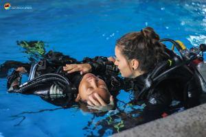 practising rescue skills