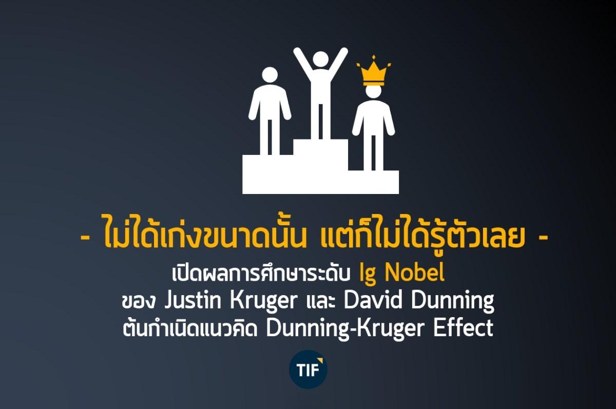 ไม่ได้เก่งขนาดนั้น แต่ก็ไม่ได้รู้ตัวเลย - เปิดผลการศึกษาระดับ Ig Nobel   ต้นกำเนิดแนวคิด Dunning-Kruger Effect