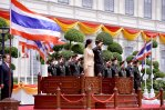 Royal Thai Army salute to troops