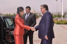 Tajikistan Thai PM welcomed by President