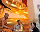 Yingluck in a temple