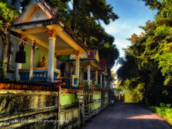 few of the many shrines surrounding Wat Siray Thailand impress
