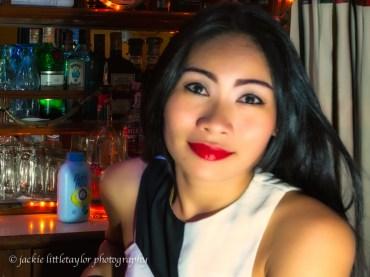 close lovely woman working bar Kamala
