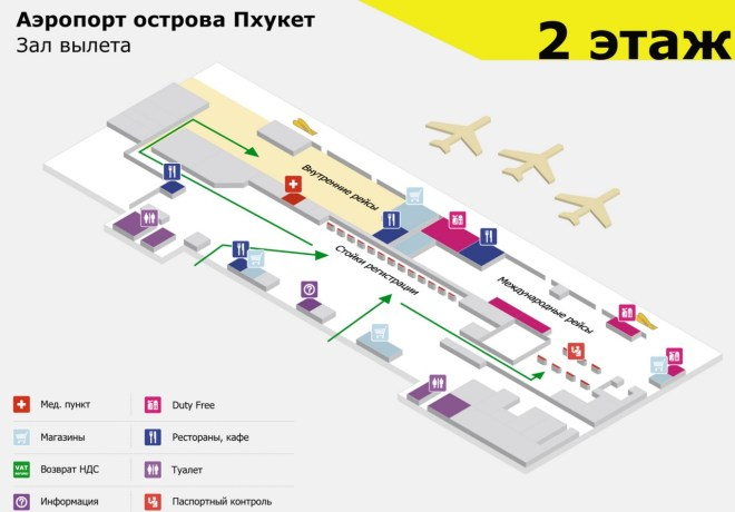 схема Аэропорта Пхукет