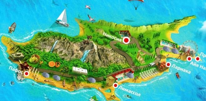 остров Крит на карте