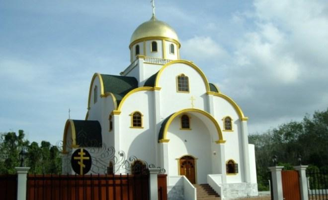 Православный храм острова Пхукет
