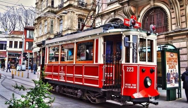 Прогулка на трамвае по Бейоглу стамбул