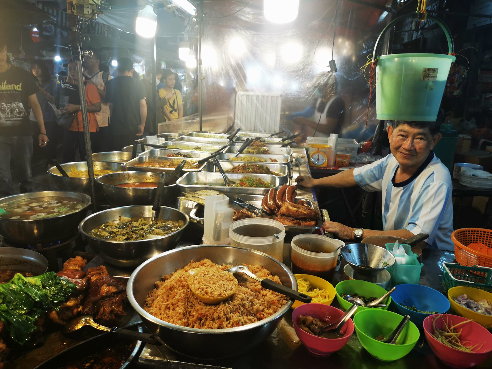 Night market with South style curries Surat Thani