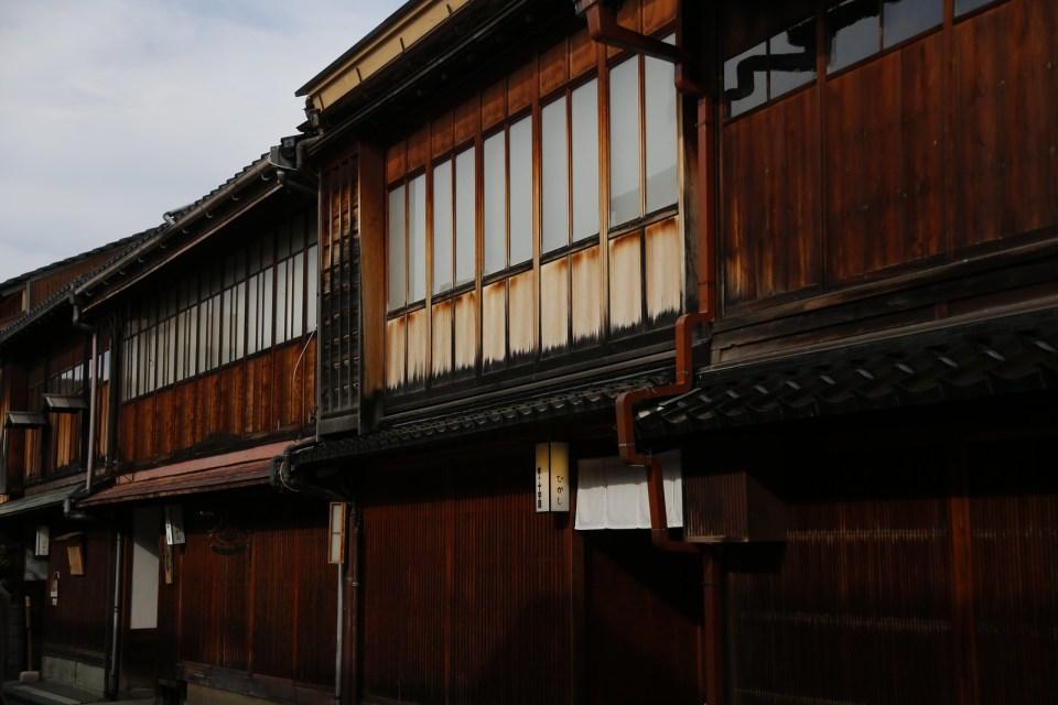 Okiya Higashi Chaya district in Kanazawa