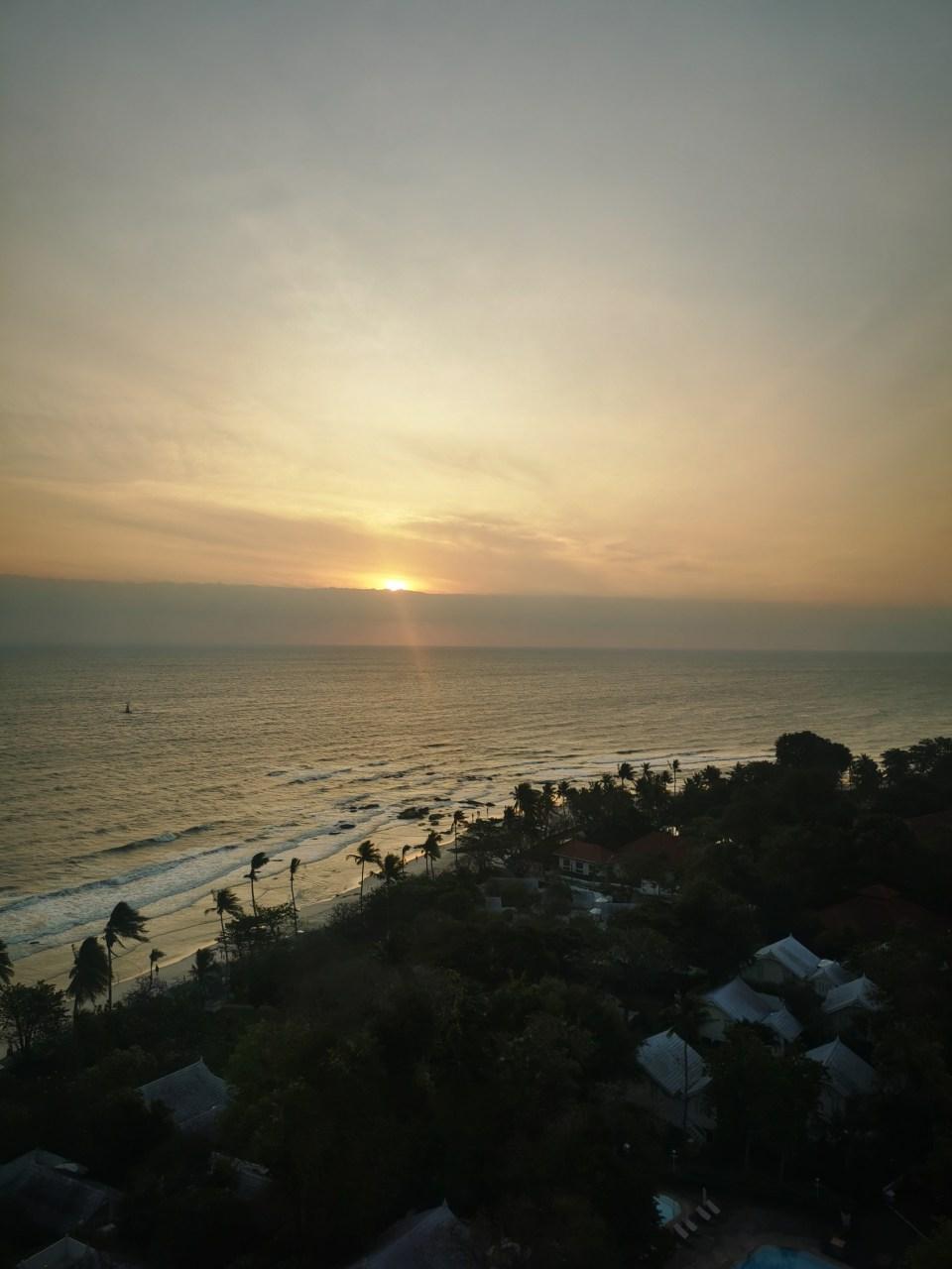 sunrise seen from Hua Hin Hilton