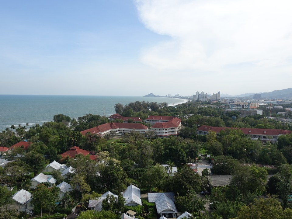 View from the balcony at Hilton in Hua Hin