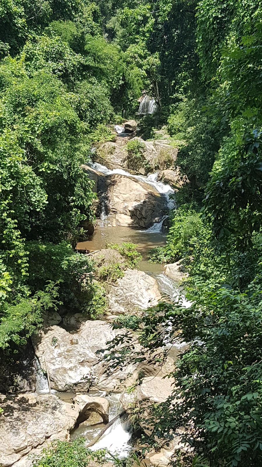 Hiking along Mae Sa waterfall. The nature.
