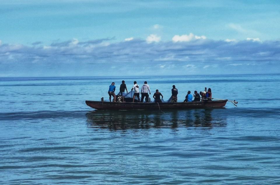 Fishermen seen from Patong Beach