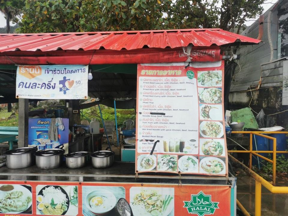 Local food vendor in Kalim bay