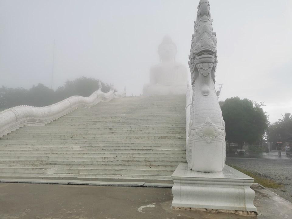 Naga staircase to the Big Buddha