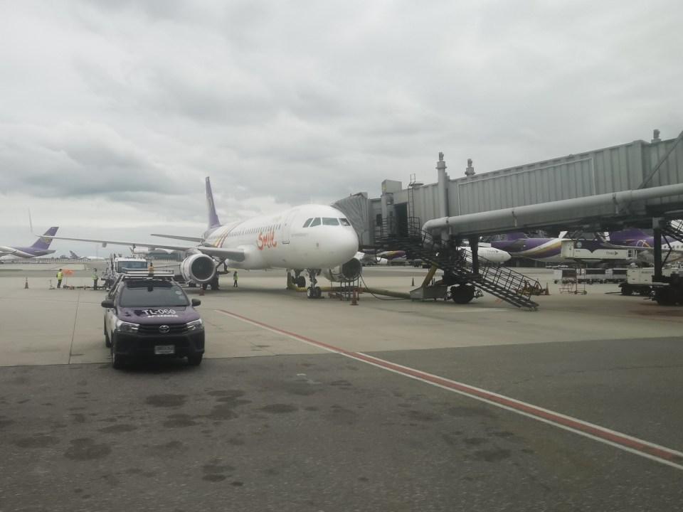 Thai Smile Airline at Suvarnabhumi airport