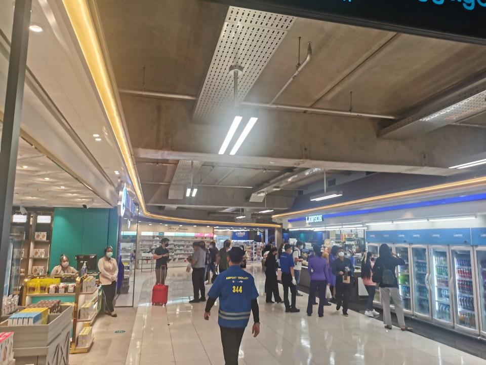 Domestic departure hall at Suvarnabhumi airport