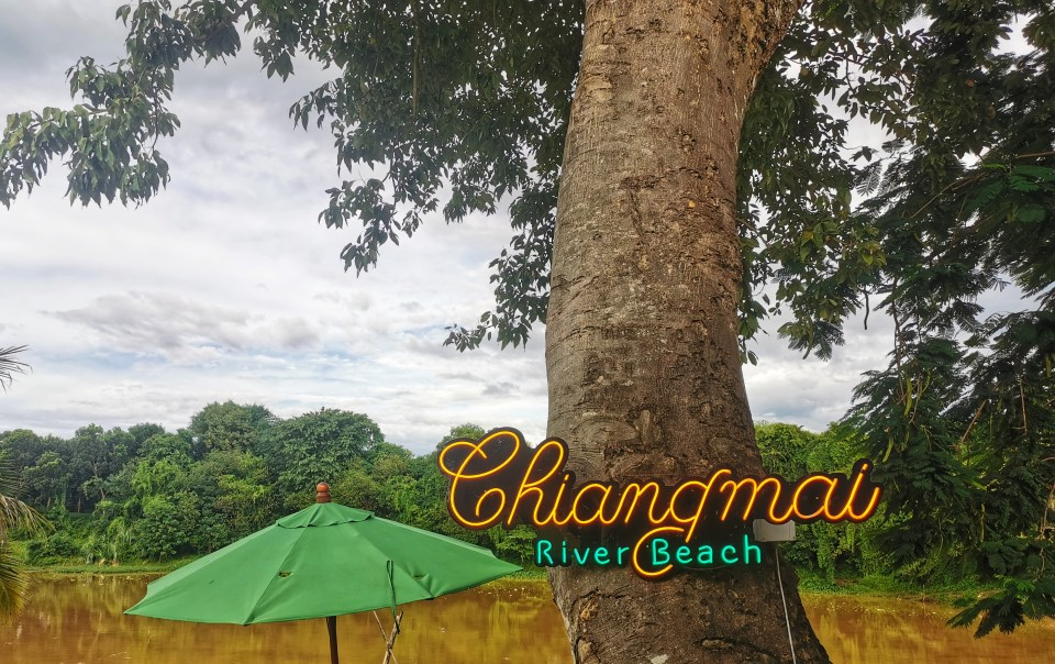 Sign of Chiang Mai beach