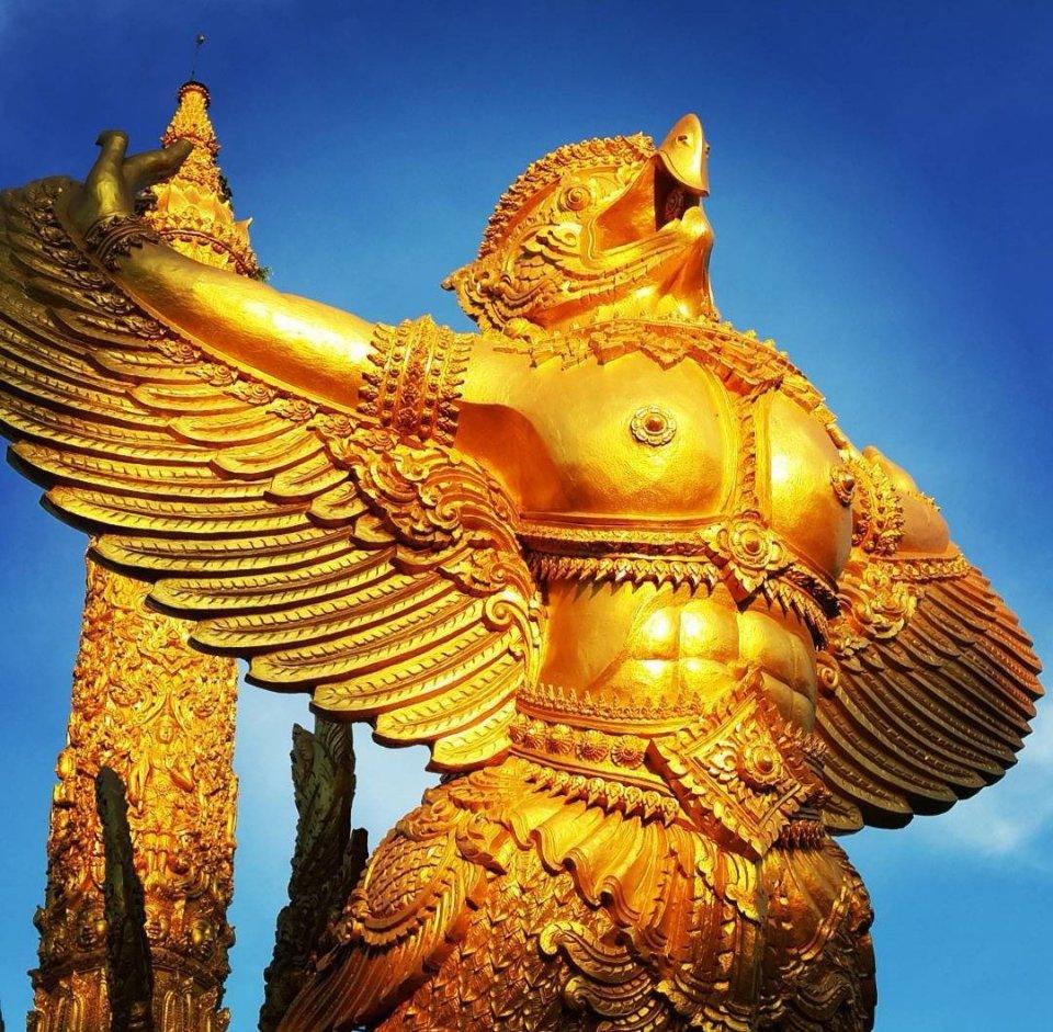A Garruda. The holy eagle that Vshnu rides on.