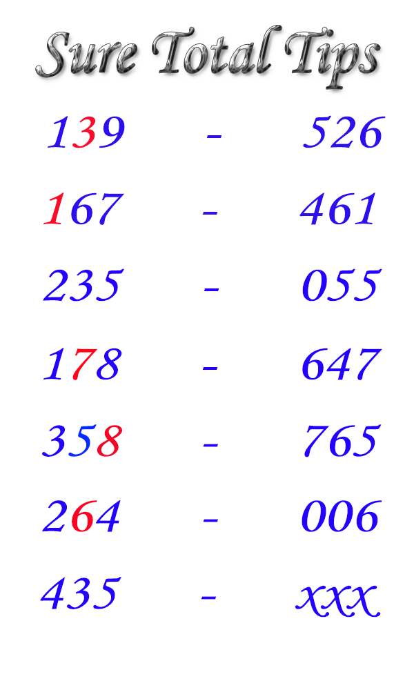 Thai Lottery HTF Sure Total Tips 16-08-2019 – THAI LOTTERY