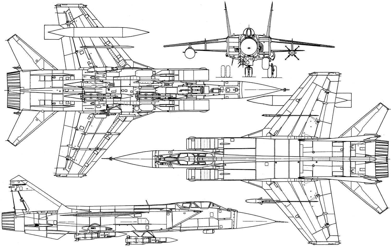 Mikoyan Mig 31 Supersonic Interceptor Aircraft