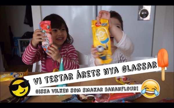 Tilda & Lucas – Test av årets glassar! (Vlogg)
