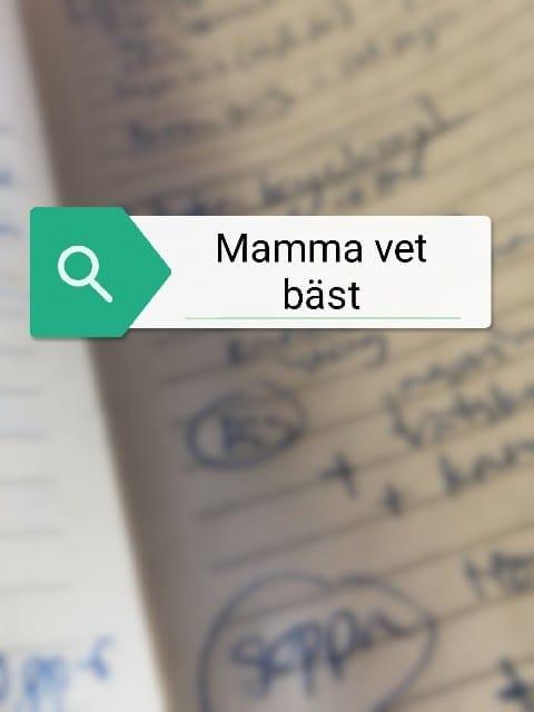 Mina recept, mammas recept