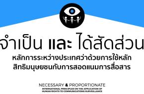 หลักการระหว่างประเทศว่าด้วยการใช้หลักสิทธิมนุษยชนกับการสอดแนมการสื่อสาร (หลัก 13 ประการ)