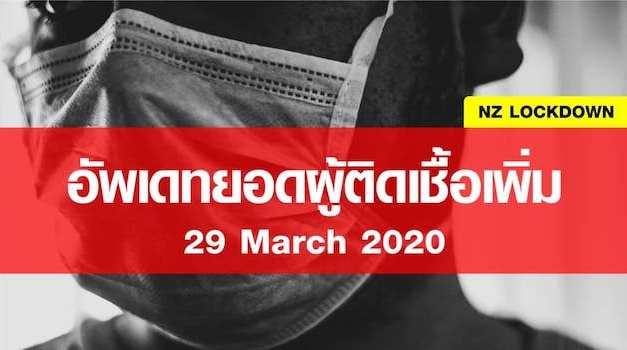 อับเดทยอดผู้ติดเชื้อประจำวันที่ 29 march 2020