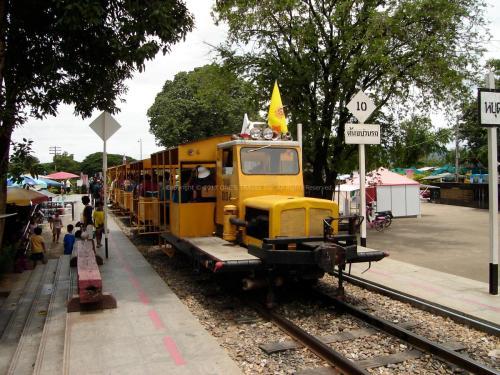 旧泰麺鉄道乗車(カンチャナブリー)