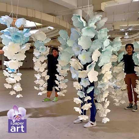 วิธีทำ ฉาก ดอกไม้ กระดาษ งาน แต่ง how to made paper flower wedding backdrop