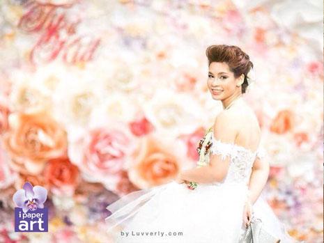 ดอกไม้กระดาษ งาน แต่ง paper flower wedding เจ้าสาว ดอกไม้กระดาษ พาน ขันหมาก พานเทียนแพ แพคเกจ แต่งงาน ฉาก ดอกไม้ งานแต่ง